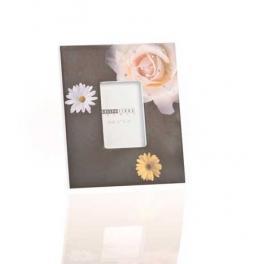 Portafotos de Madera Flower