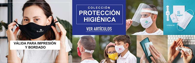 MASCARILLAS, PANTALLAS Y ARTICULOS PARA PROTECCIÓN CORONAVIRUS COVID19 PARA PERSONALIZAR